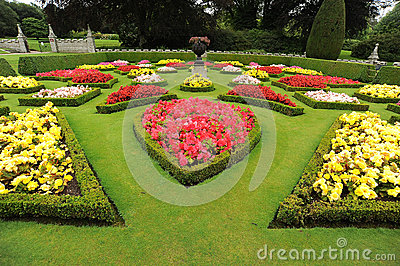 Formal Garden Beds with Urn
