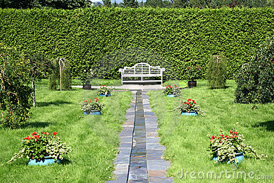 Formal Garden Bench
