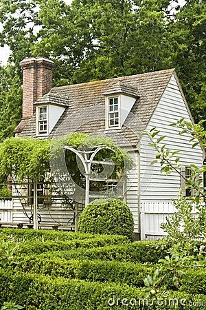 Formal garden in Colonial Williamsburg
