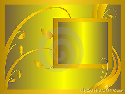 Formal Gold Floral Background