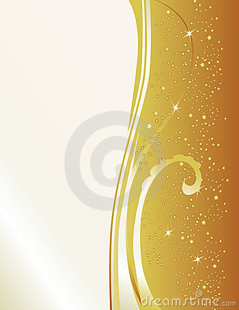 Free Formal Gold Invitation Royalty Free Stock Images - 7397479
