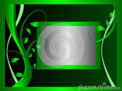 Formal Green Floral Background