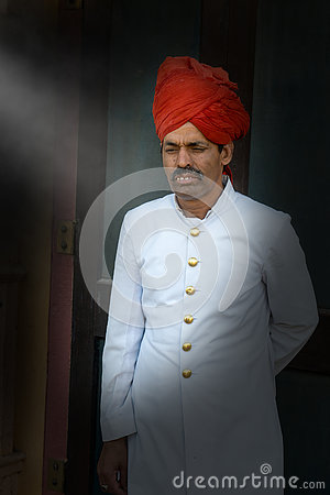 Free Formal India Clothing, Doorman Dressed Up Royalty Free Stock Images - 79766459