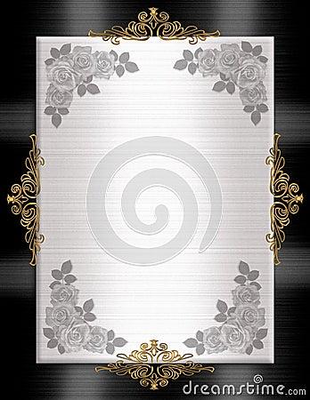 Formal Invitation template black white