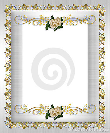 Formal invitation template white roses