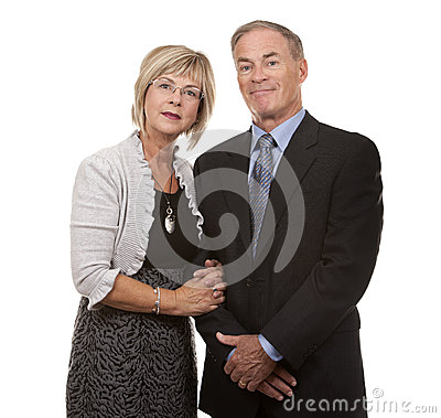 Formal mature couple