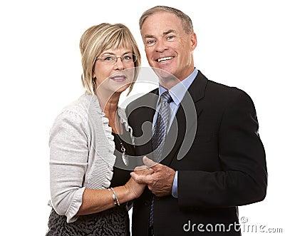 Formal mature couple