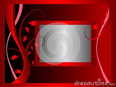 Formal Red Floral Background