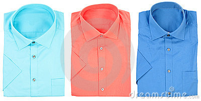 Formal shirts with short sleeves | Isolated