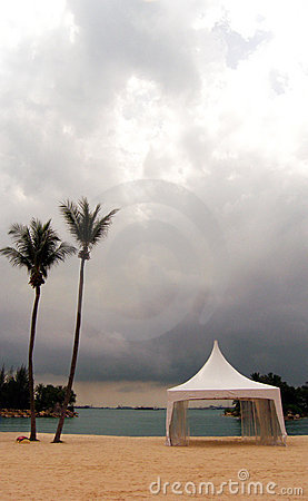 Formal tent on beach