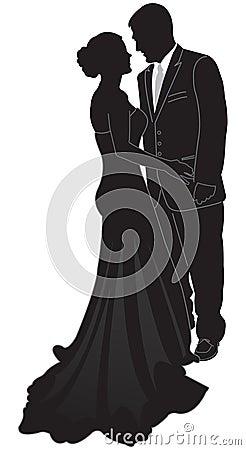 Formales Paar-Schattenbild