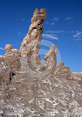 Formação de rocha no deserto de Atacama - o Chile