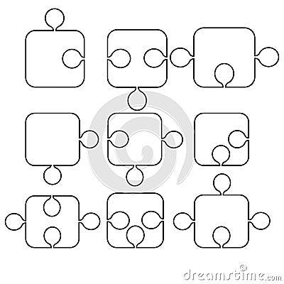 Formas de rompecabezas