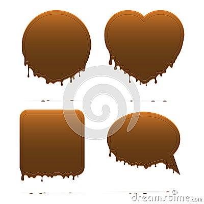 Formas do chocolate do gotejamento