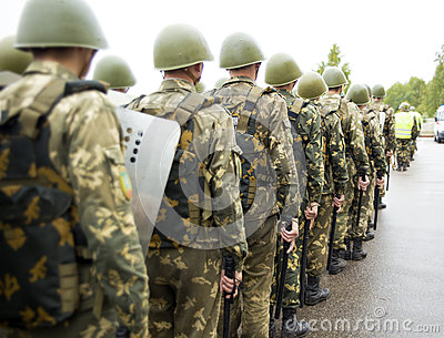 Formation of soldiers of internal troops