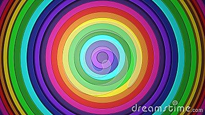 forme colorful/astratte di spirale dell'arcobaleno di 3D 4k illustrazione vettoriale