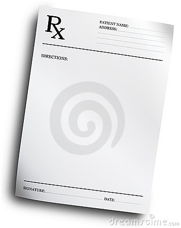 Forme de prescription de RX