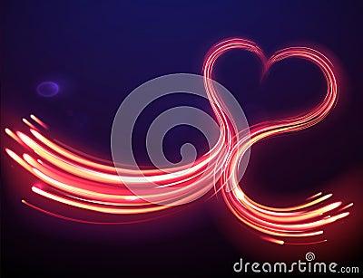 Forme magique de coeur