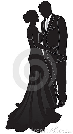 Formell silhouette för par