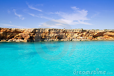 Formentera balearic island from sea west coast