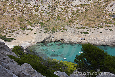 Formentor cove in majorca