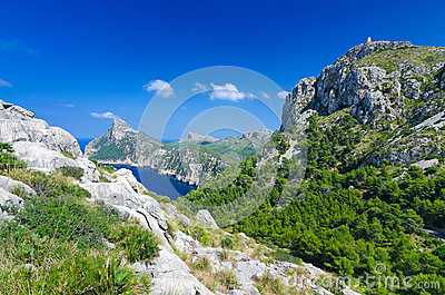 Formentor valley on Majorca
