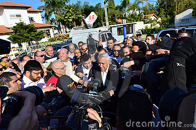 Former Israel President Katsav on Way to Prison Editorial Stock Photo