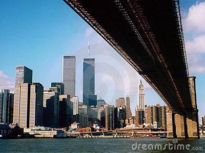 former Lower Manhattan skyline