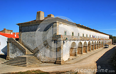 Former military barracks in Almeida historical village, Portugal