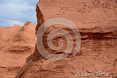 Former ochre quarry in Roussillon, France