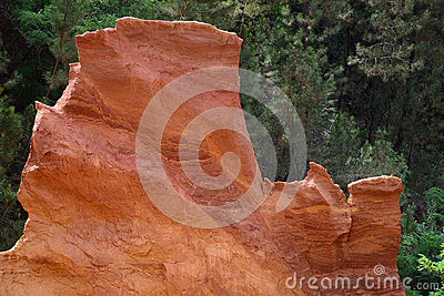 Former ochre quarry in Roussillon, France