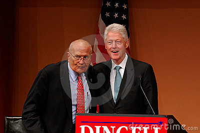 Former President Bill Clinton and John Dingell Editorial Stock Photo