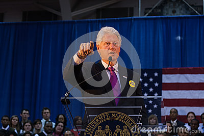 Former President Bill Clinton speaks Editorial Stock Photo
