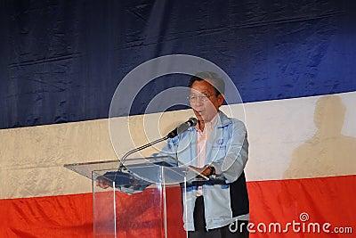Former Thai Prime Minister Chuan Leekpai Editorial Image