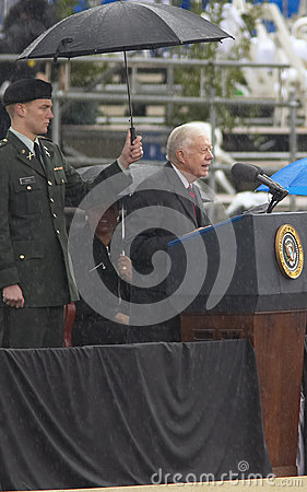 Former US President Jimmy Carter Editorial Photography