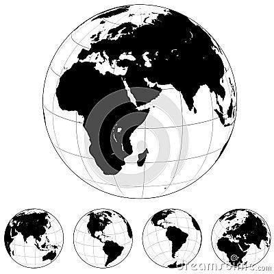 Formes de globe de la terre