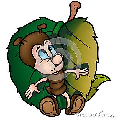 Formiga com folha