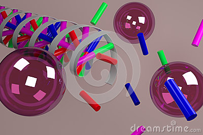 Forming of DNA Stock Photo