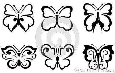 Forms butterflies