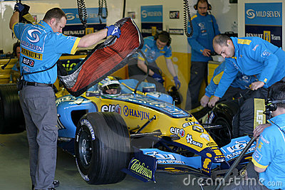 Formula 1 2005 season, Giancarlo Fisichella Editorial Photography