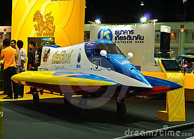 Formula 1 boat of Singha Corporation Editorial Stock Image