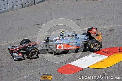 Formula 1 Monaco Grand Prix Button Editorial Photography