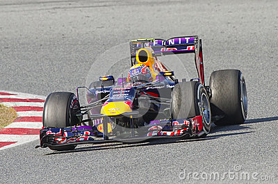 Formula 1 Red Bull - Mark Webber Editorial Photography