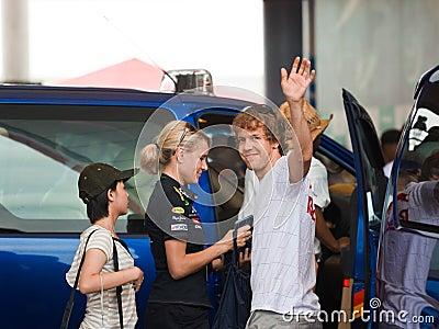 Formula 1, Sebastian Vettel, team Red Bull Racing Editorial Image