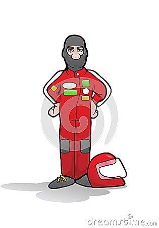 Formula car driver