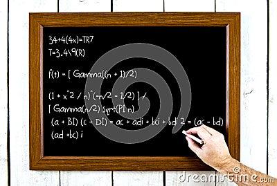 Formula on a chalkboard