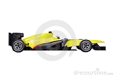 Formula one car with path Editorial Stock Image