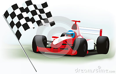 Formula One and checkered flag