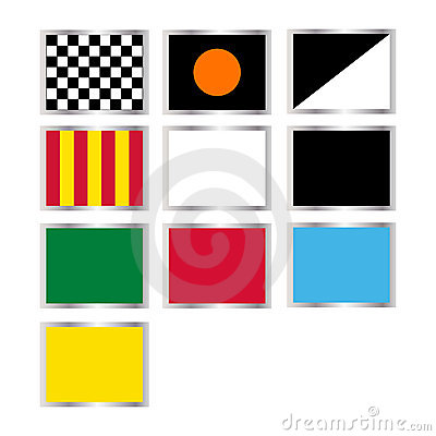 Formula one flags