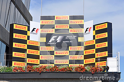 Formula One podium Editorial Image